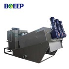multi-plate type sewage sludge dewatering volute screw filter press system for black water treatment system process
