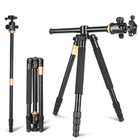 Center axle transverse camera tripod for camera selfie stick tripod