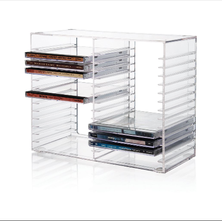 Acrylic CD Tower or clear Acrylic DVD display rack 30 CDs