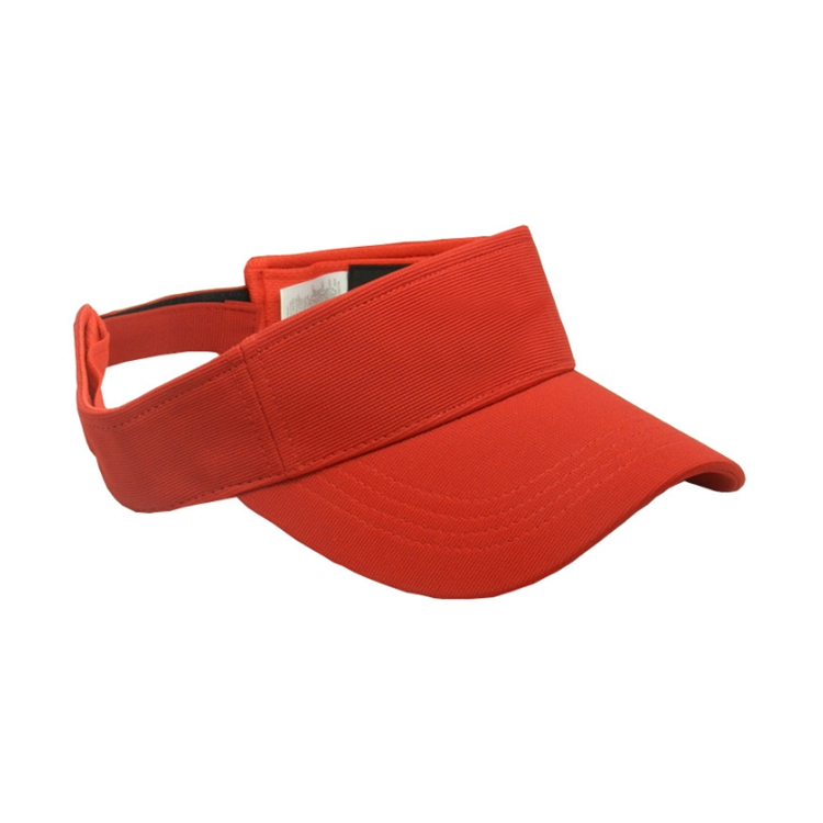 Wholesale High Quality US Style China Red Visor Cap Manufacturers
