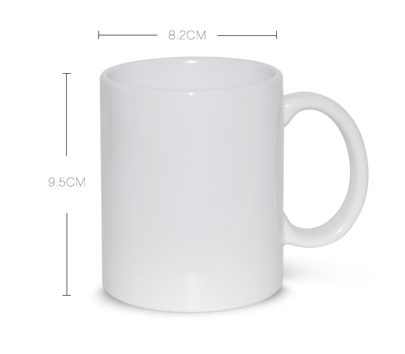 Wholesale drink water blank sublimation 11oz white mug cup for sublimation
