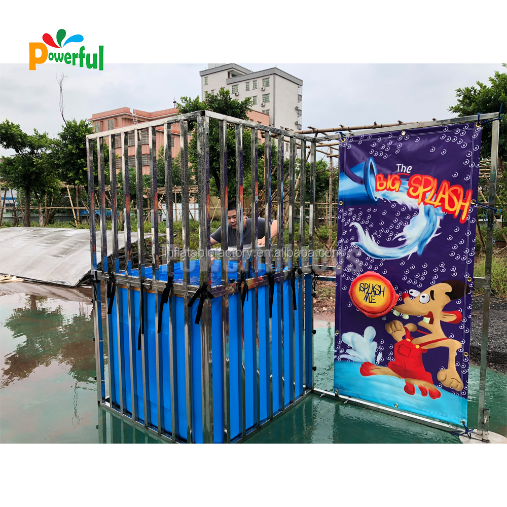 Hot Sale Inflatable Dunk Tank Funny inflatable Water Games for rental