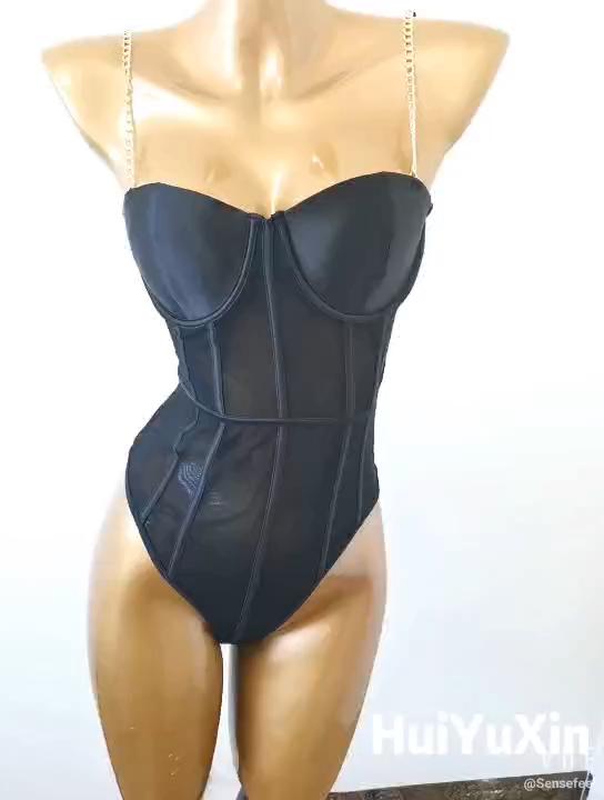 Heiße Verkäufe One-stück Kette Riemen Frauen Sexy dessous unterwäsche