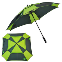 Big Size Windproof Square Double Canopy Golf Umbrella