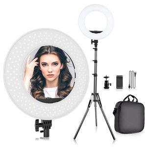 12 ring light led desktop selfie lamp 2700-6500k dimmable 3 colors photographic lighting dslr with stand and cell phone holder