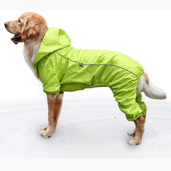 Wholesale outdoor 2 color options Waterproof pet reflective walking dog raincoat breathable dog rain coat