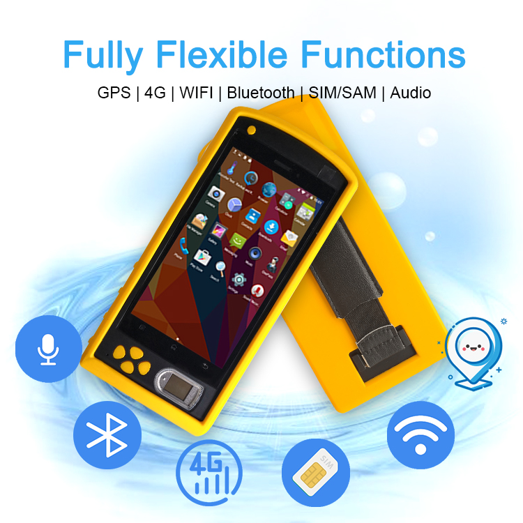 HF-FP05 3G Android Handheld PDA Fingerprint Scanner and Camera Biometric Clock System