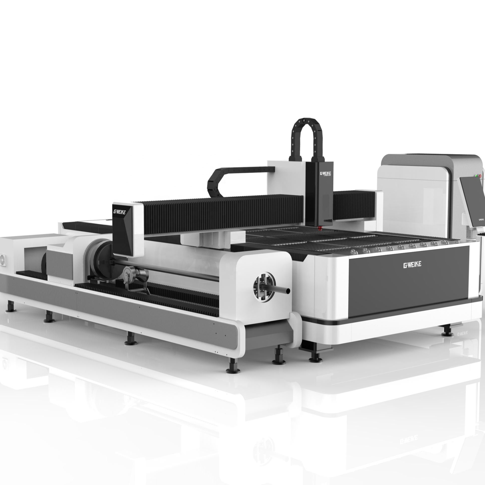 Yüksek hızlı cnc fiber lazer kesim makineleri sac metal 1000w