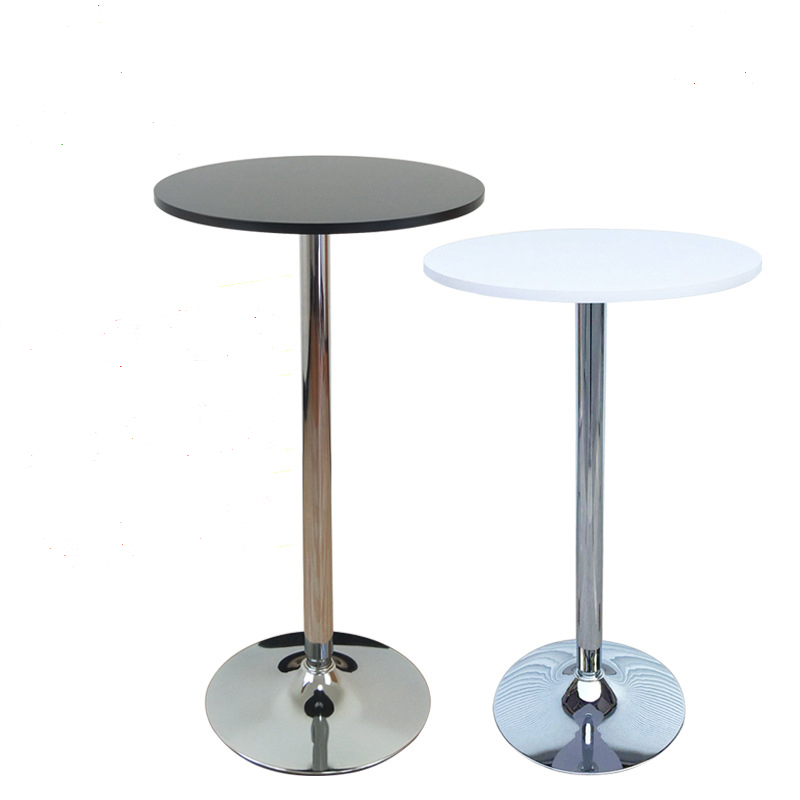 Customizable simple MDF desktop metal base cocktail table high table for <strong>bar</strong> or wedding
