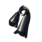 Scarfs 100%Acrylic Designer Vertical Stripe Jacquard Scarfs For Winter Women Stylish Colors
