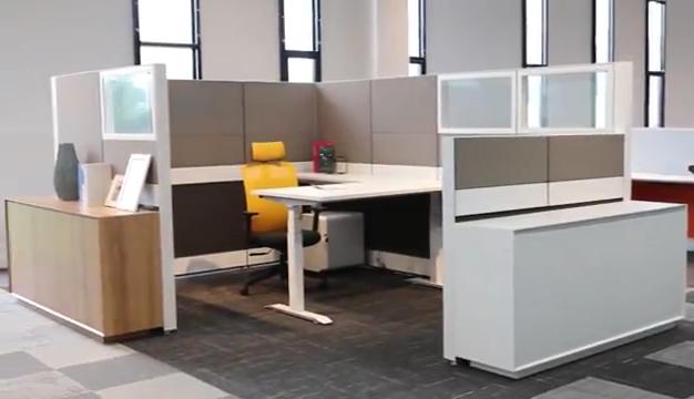 Estación de trabajo de mesa pequeña para 2 personas, nuevo diseño, para el personal