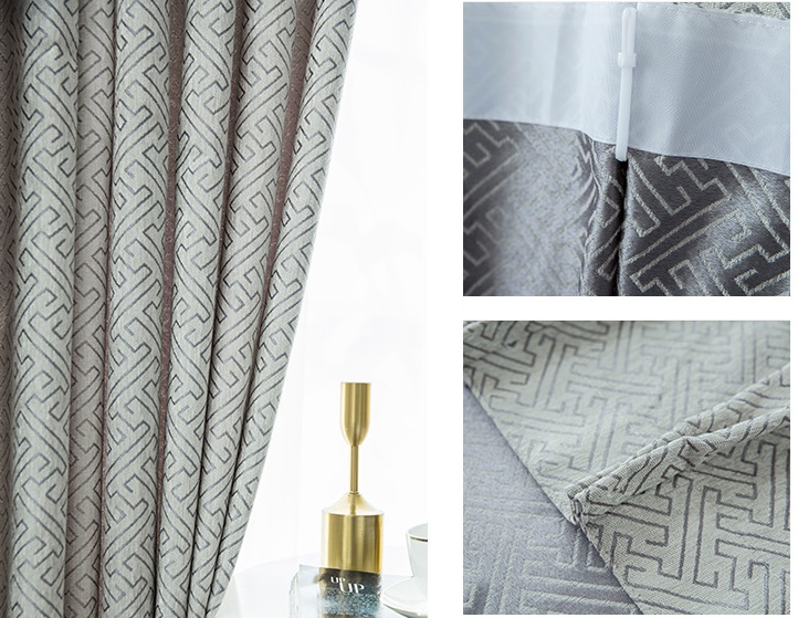 High quality chenille 100% blackout fabric jacquard for bedroom custom curtain