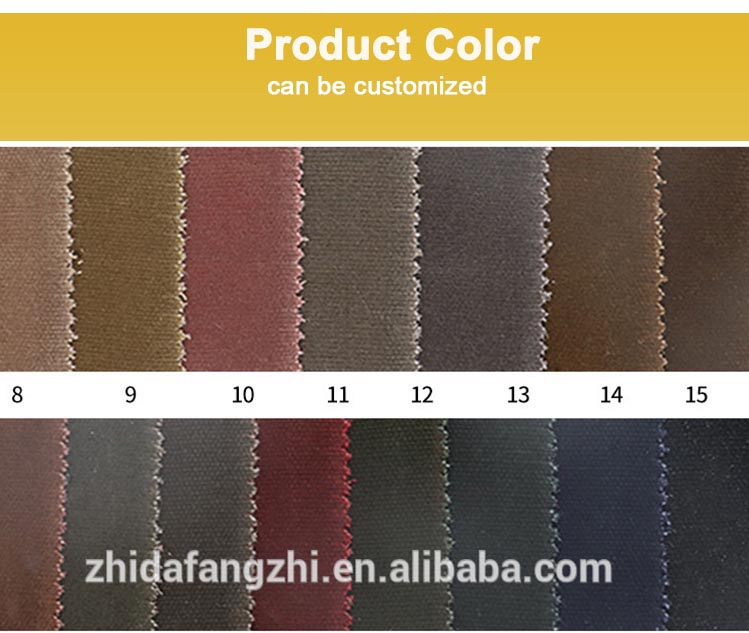 China 100 cotton fabric manufacturers rain resistant waxed canvas fabric for sale