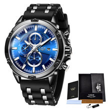 LIGE модные спортивные часы, мужские водонепроницаемые часы, лучший бренд, Роскошные Кварцевые часы, Relogio Masculino Reloj Hombre, силиконовый ремешок, 2020(Китай)