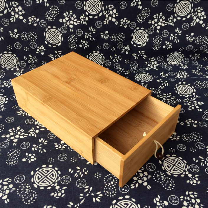 Magnet lid bamboo gift box jewelry wood box