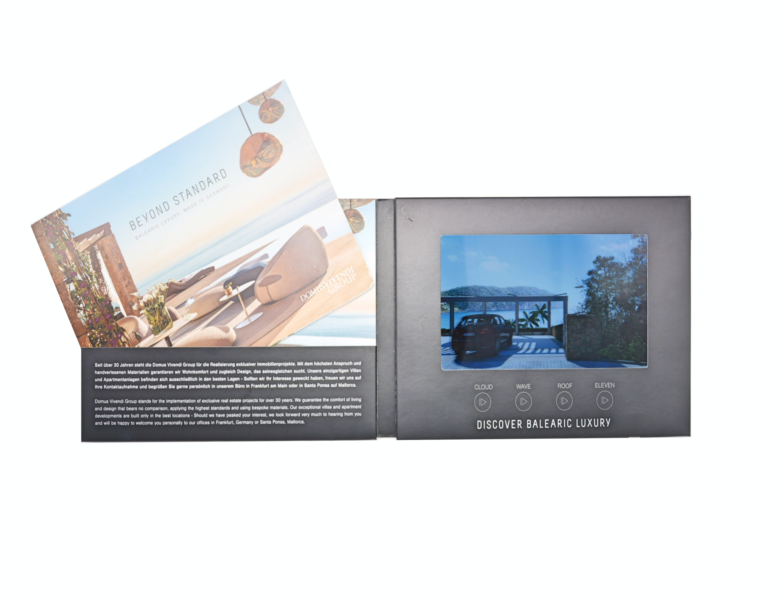 Best material corporate video greeting card