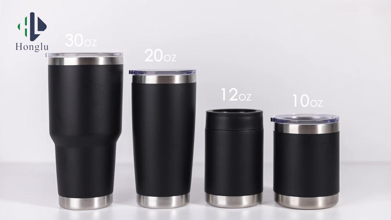 18/8 Stainless Steel Double Wall Tumbler 10oz 12oz 14oz 16oz 20oz 30oz Insulated Coffee Travel Mug Tumbler
