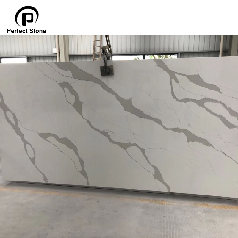 High-Grade White Calacatta Slabs Calacatta Quartz Slab Price