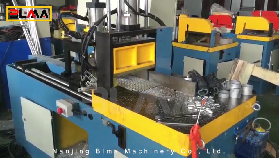 Aluminium shear cold semi automated aluminum tube pipe cutting machine