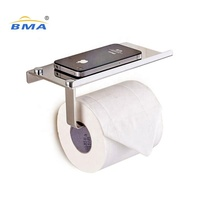 Wholesale Bathroom accessories Towel Rack stainless steel Glass Wall Mounted Roll Tissue toilet paper holder