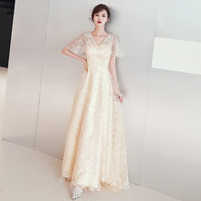 Тост невесты короткий 2020 новый осенний современный свадебный красный свадебное вечернее платье женское тонкое средней длины(Китай)