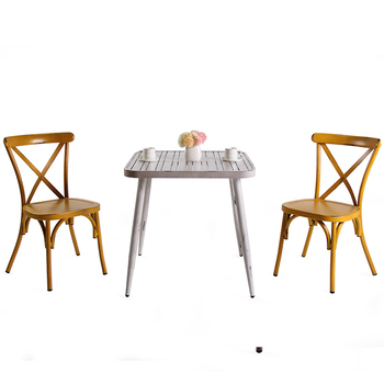 Vintage Outdoor Colorful Wedding Dining Room Furniture Usa Europe Fashion Design Metal Table Chair Restaurant For Wedding Events
