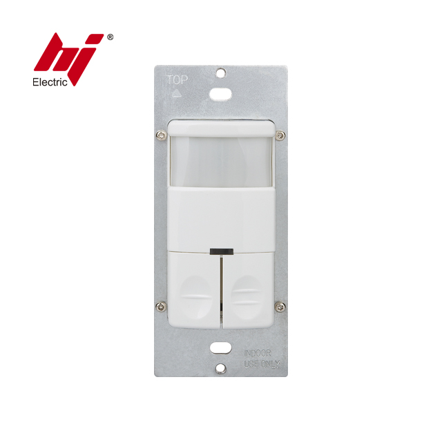 Dual Relay Occupancy PIR Motion Sensor Wall Switch Light Controller with UL