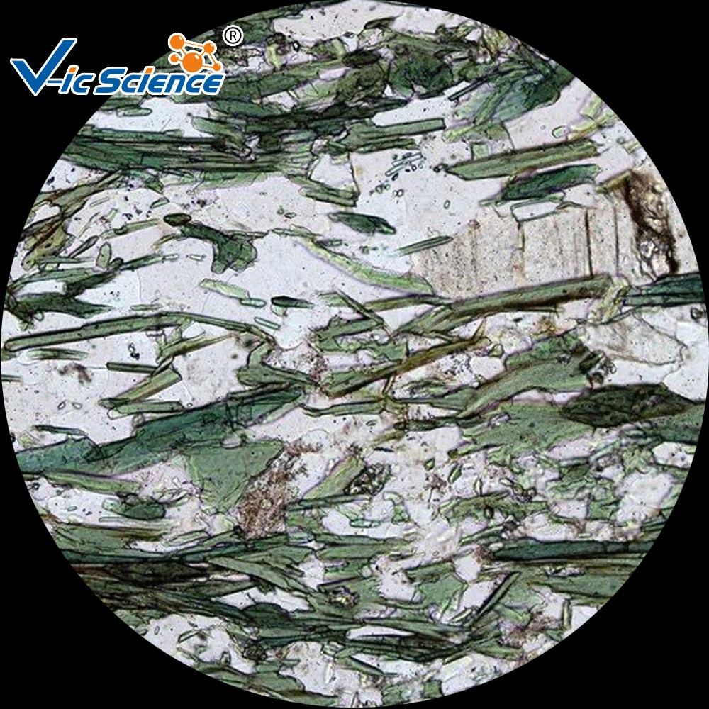Geological research different mineral items slides Mixed mineral geography prepared slides sets