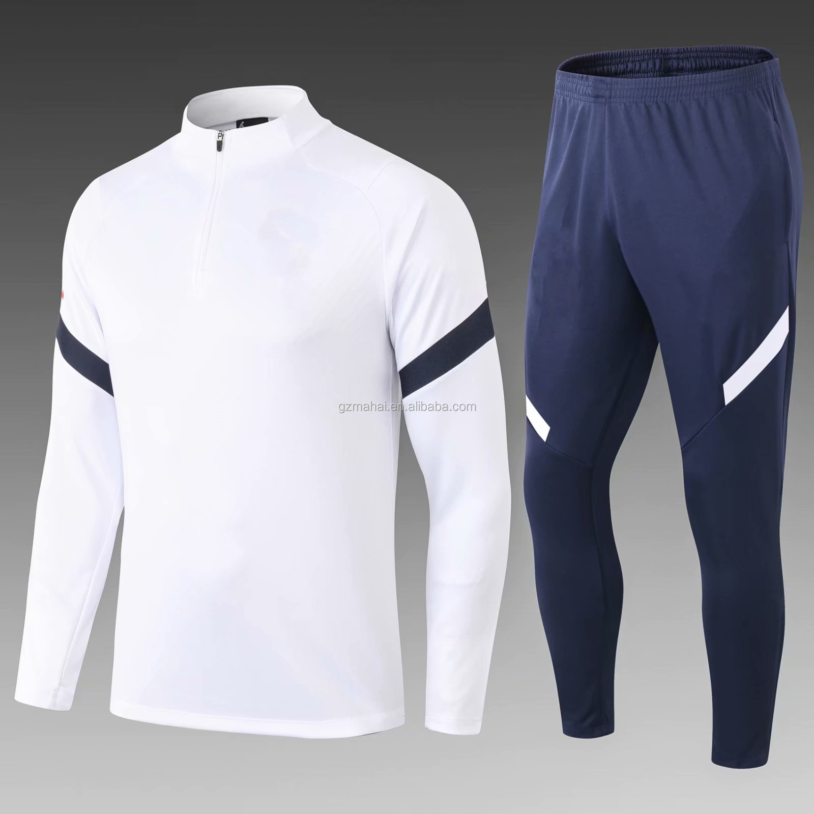 New design football tracksuit 2021 Soccer training football sweater suit wholesale