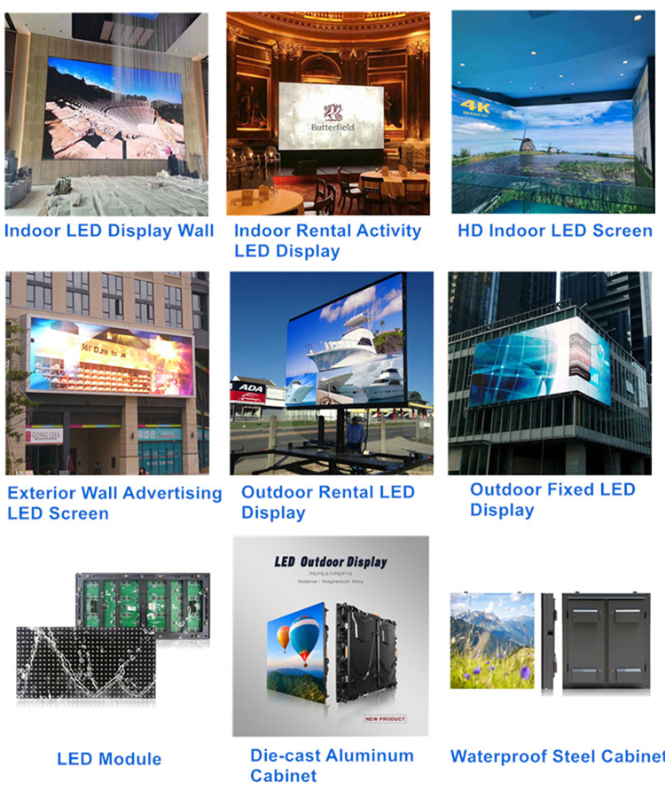 Big Advertising P3.91 P4.81 P5.95 P6.25 P8.92 Outdoor LED Display/LED