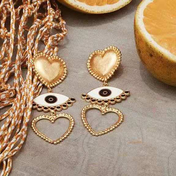 CM-Xinyee Wholesale gold earring for fashion women ,charm heart earring, fashion gold earring фото
