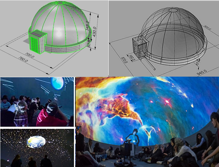 Lightwegiht movable Inflatable 360 Degree Projection Dome Tent 6m