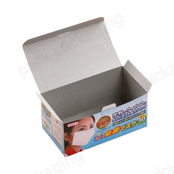 Recyclable and Compostable Cardboard Surgical Face Mask Paper Packaging Box