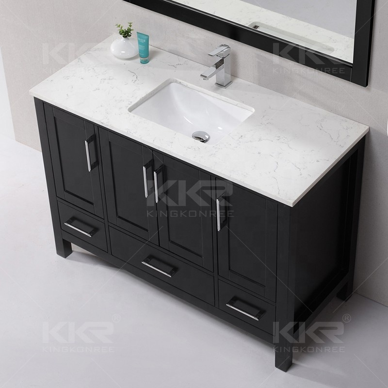 Modern 60 Inch Bathroom Cabinet Vanity Sink Acrylic Wall Hung Solid Surface Basin Double Commercial Italian