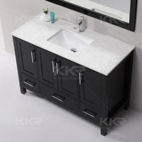 Modern 60 inch bathroom cabinet vanity sink acrylic wall hung solid surface basin