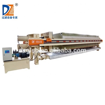 Shanghai Dazhang Program controlled automatic filter press machine for water treatment filter machine price