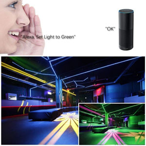 WiFi Wireless Smart Phone Controlled Waterproof RGB Light Strip LED Kit Working with Android, iOS System, Alexa,Google Assistant