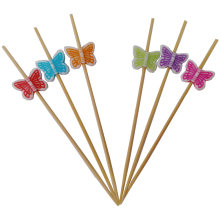 Einweg dekorative blume bambus party sticks