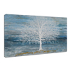 Newest Chinese Creative Tree Abstract Oil Painting on Canvas Blue Teal Home Decor Wall Art Ready to Hang