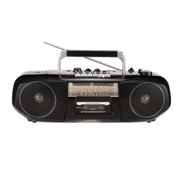 Classic retro radio top rated portable am fm radio portable stereo cassette recorder