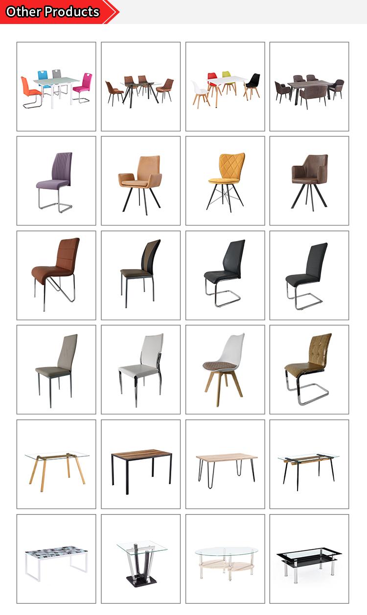 Muestra libre barato casa muebles de MDF de madera de lujo moderno mesa de comedor con patas de Metal