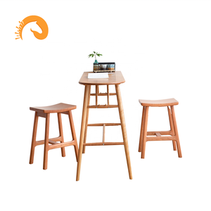 Modern home bar furniture kitchen bar counter cherry wood bar table  with wide desktop