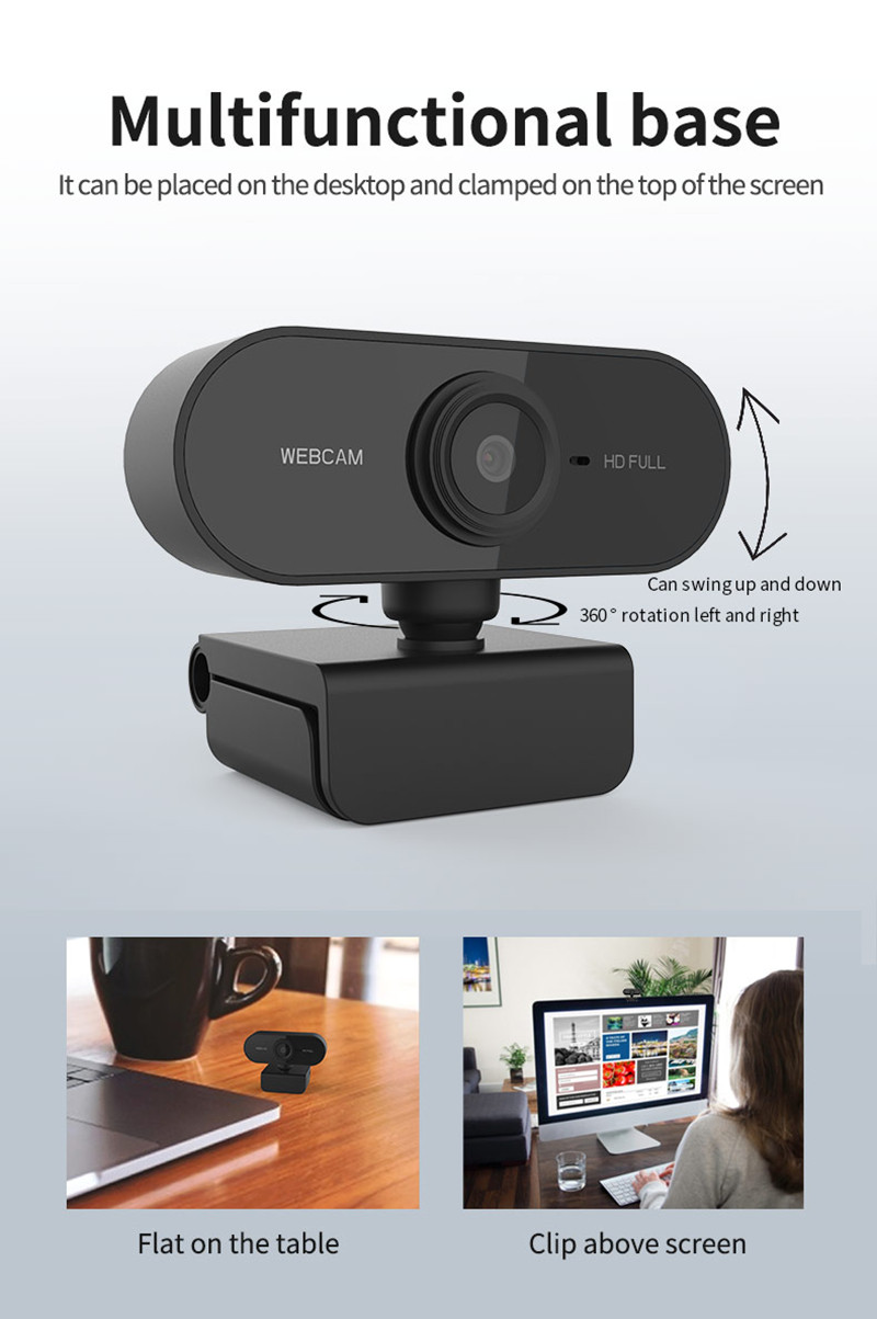 Webcam Microphone Peripherals-Camera Computer Built-In 720P Laptop Focus Auto for PC