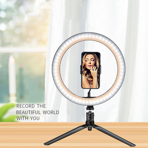 10 inch 3000-6500K LED Ring Light with Tripod Stand for Makeup