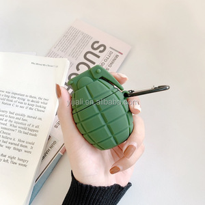 Ruijue Grenade Shape Headphone Protective Cover Case for Airpods Silicone