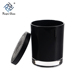China Factory Wholesale Black Glass Candle Jar With Lid, Glass Jars For Candles,Colored Glass Candle Jar