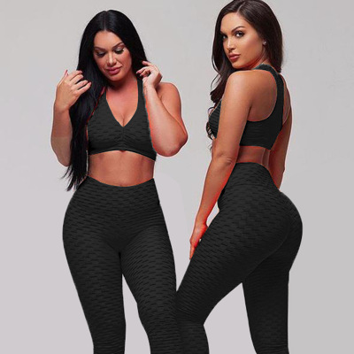 Kompression leggings Frauen Nahtlose yoga tragen anzug push-up Sexy sport Bh Gym Yoga hosen Set
