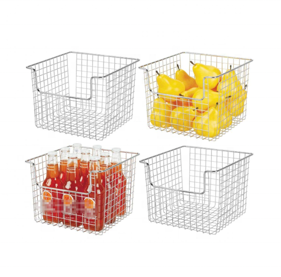 Bathroom accessories Metal Wire Food Storage Organizer wire basket