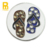 Bling Slippers Ball Design Ball Marker With Crystal Stones