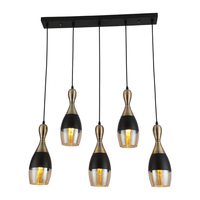 Modern decorative living chandelier hanging light glass bulb shade pendent lamp oval industry lamp blow glass pendent lamp